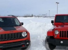 Renegade v Wrangler in Snow